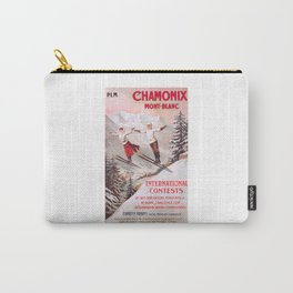 1910 France Chamonix Skiing PLM Travel Poster Carry-All Pouch