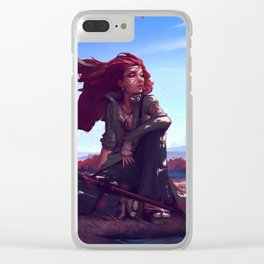 BECOME THE WIND Clear iPhone Case