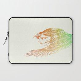 Raven Girl Rainbow Laptop Sleeve