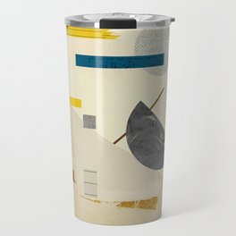 Paper Ephemera Yellow Blue Travel Mug