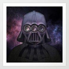 3 Eyes Darth Vader Art Print