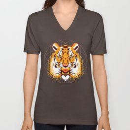 Geometric Tiger Unisex V-Neck