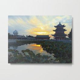 Sunset @ Donglinsi Metal Print