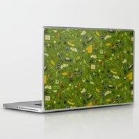moonrise kingdom Laptop & iPad Skins featuring Moonrise Kingdom plot pattern by QRS Patterns