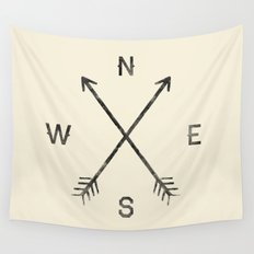 Compass (Natural) Wall Tapestry