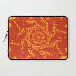 Red Orange and Yellow Kaleidoscope 3 Laptop Sleeve