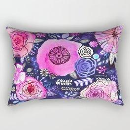 Ultraviolet Floral Mix Rectangular Pillow