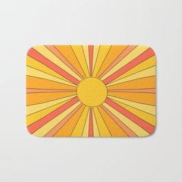 Sun rays Bath Mat