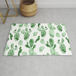 Green Cactus Field - Large Rug