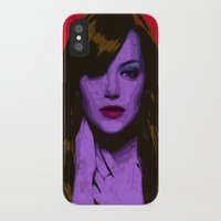 emma stone iPhone & iPod Cases featuring Emma Stone by Bolin Cradley Art