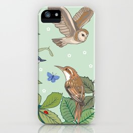Woodland Birds iPhone Case