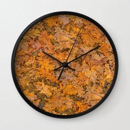 Leaves Motif Pattern Photo Wall Clock