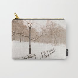 Snowing in Central Park Carry-All Pouch