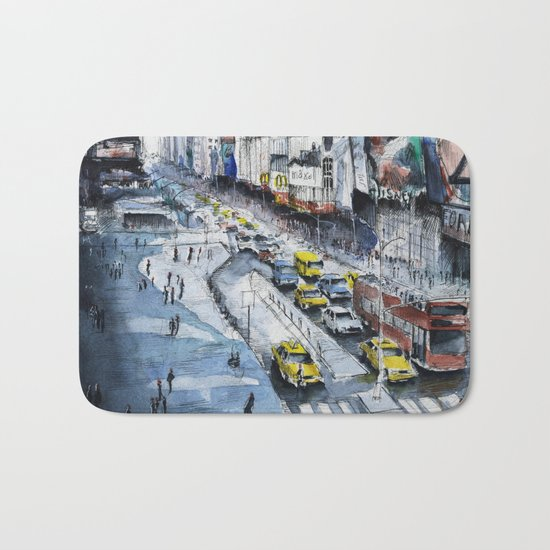Time square - New York City Bath Mat