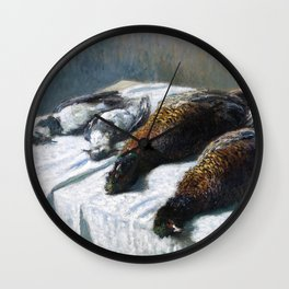 1879-Claude Monet-Still Life with Pheasants and Plovers-26 x 35 Wall Clock
