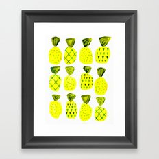 Modern Pineapples Painting Framed Art Print