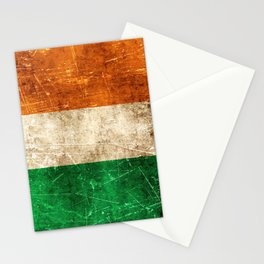 Vintage Aged and Scratched Irish Flag Stationery Cards
