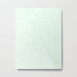 Spacey Melange - White and Pastel Green Metal Print