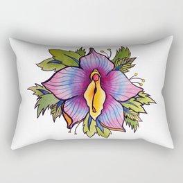 Vulva Flora Rectangular Pillow