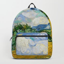 wheat field with cypresses 1889 by vincent van gogh Backpack