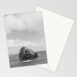 Seaside of Madeira | rocks in the big ocean of Portugal | simplistic vintage photography print Stationery Cards