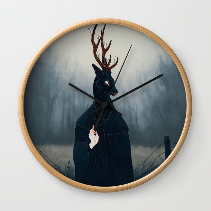Deep Forest Saint Wall Clock