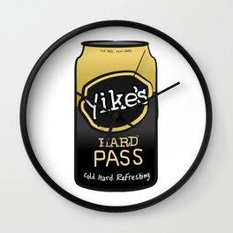 Yikes! Hard Pass Wall Clock