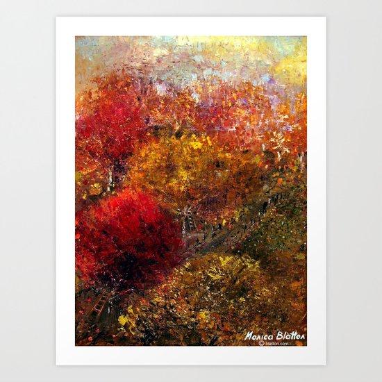 Autumn Orchard Art Print