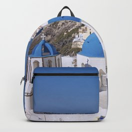 Oia Village in Santorini Backpack