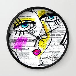 Goddess Doodle No. 3 Wall Clock