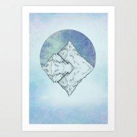 frozen Art Prints featuring Frozen by Holly Nekonam