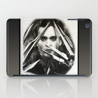 edward scissorhands iPad Cases featuring Edward Scissorhands by Whitney Wilkinson