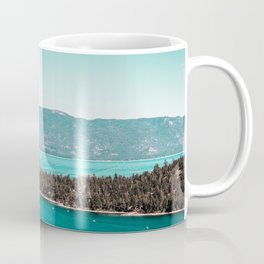 Even in the summer this lake looks like a frozen glass. Coffee Mug