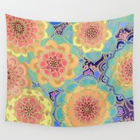 mandala Wall Tapestries featuring Obsession by micklyn