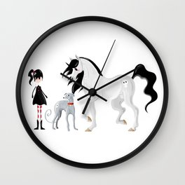 Dreamer and her Companions Wall Clock