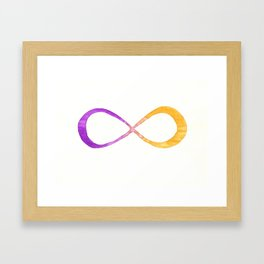 infinite (purple/yellow) Framed Art Print