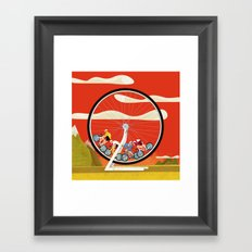 Road Cycling Race Hamster Wheel Challenge Framed Art Print