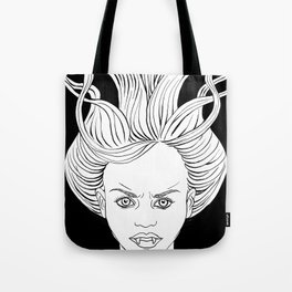 Angry Vampire Girl Tote Bag