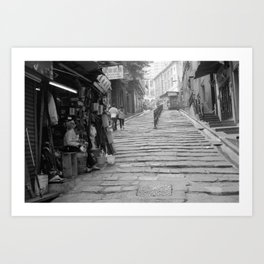 Pottinger Street Hong Kong  Art Print