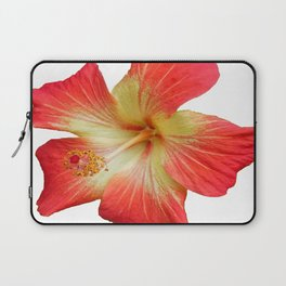 Gorgeous Red And Gold Hawaiian Hibiscus Flower No Text Laptop Sleeve