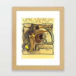 """Koloman (Kolo) Moser """"Ver Sacrum Poster"""" Framed Art Print"""