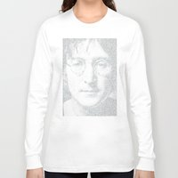 imagine Long Sleeve T-shirts featuring Imagine by Robotic Ewe
