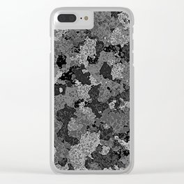 Gray Abstract Camouflage Clear iPhone Case