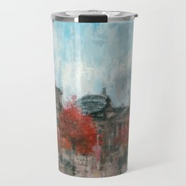 Bundestag, Reichstag Berlin Mitte -  impressionism style print Illustration  / abstract landmark Travel Mug