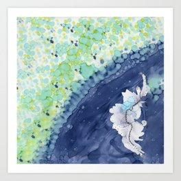 Ocean Blooms: Abstract, Nature, Spring Art Print