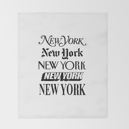 I Heart New York City Black and White New York Poster I Love NYC Design black-white home wall decor Throw Blanket