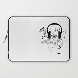Headphones and Music Notes Laptop Sleeve
