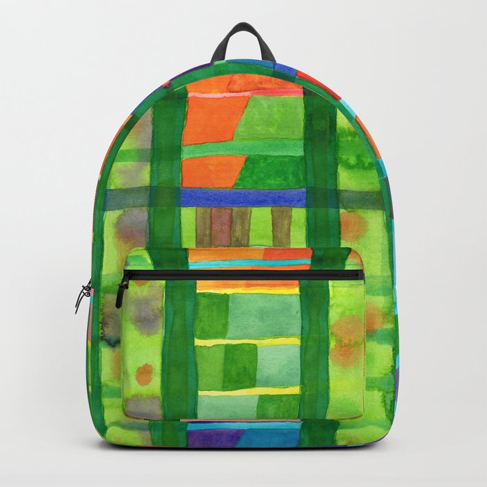 Colored Fields With Bamboo Backpack