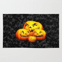 Cute Pumpkin Family Rug