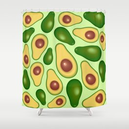 Avocado Juicy Pattern Shower Curtain